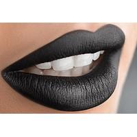 Black Midinight  Black Matte  Liquid Lipstick Lipstain
