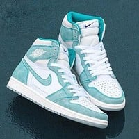 "Nike Air Jordan 1 Mid ""Milan"" Classic Hot Sale High Top Men's and Women's Sneakers Shoes"