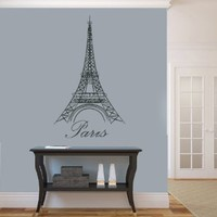 Housewares Vinyl Decal Eiffel Tower Paris Home Wall Art Decor Removable Stylish Sticker Mural Unique Design for Girl Boy Nursery Salon Shop Room