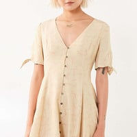 Kimchi Blue Sally Sue Tie-Sleeve Mini Dress - Urban Outfitters