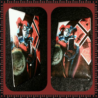 Harley Quinn with mallet light switch cover handmade DC comics