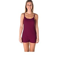 Ladies fashion knit romper shorts with adjustable draw string