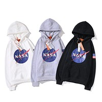 Nasa head camouflage hoodie sweater S ~ 2XL