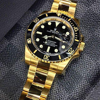 Rolex Submariner Ladies Men WatchStainless Steel Watch Black gold