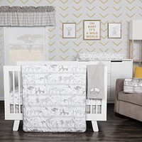 Baby Bedding Sets  - Waverly Congo Line 5 Piece Crib Bedding Sets Set