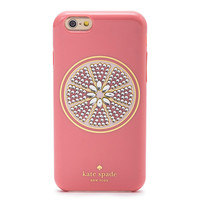 Kate spade kate spade NEW YORK iPhone 6 iPhone case IPHONE 6 6 6 s s case ecosanctuary grapefruit GRAPEFRUIT - 6 JEWELED CASES IPHONE rhinestone grapefruit pink brand women new