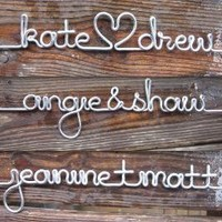 Personalized Length of Silver Wire for the DIY Wood by lilafrances