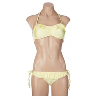 Ruffle Trim Bandeau Bikini Jr 265839193 | Bikini | Swimwear | Juniors | Burlington Coat Factory