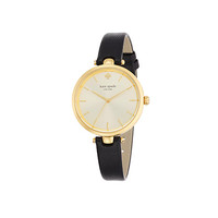 Kate Spade Holland Skinny Strap Watch Black/Gold ONE