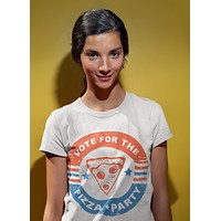 Vote for the Pizza Women T-Shirt