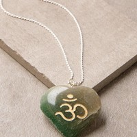 Green Jade Om Necklace