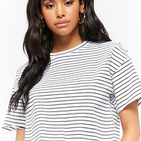 Striped Boxy Cotton Tee