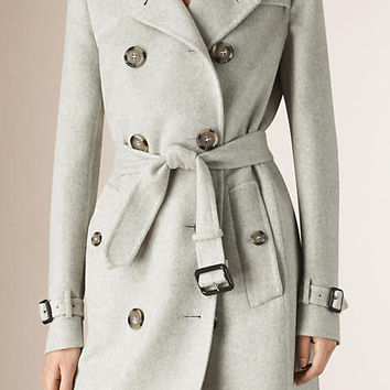 Double Cashmere Trench Coat