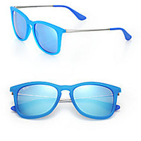 Ray-Ban - Junior Injected 48MM Mirrored Square Sunglasses - Saks Fifth Avenue Mobile