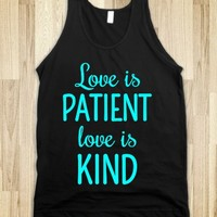 LOVE IS PATIENT, LOVE IS KIND TANK (CYNICL81BT)