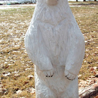 Chainsaw Carved Polar Bear