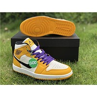 Air Jordan 1 Mid Lakers | 852542 700 Sneakers