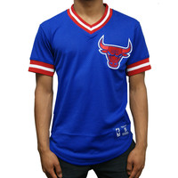 Mitchell & Ness Chicago Bulls Pullover Jersey In Royal Blue/Red