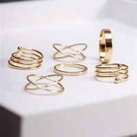 gold plated stackable  midi rings
