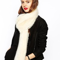 ASOS Faux Fur Collar With Slot Through Detail