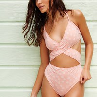Free People Jardine Crisscross One Piece Swimsuit