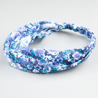 Full Tilt Floral Print Lace Headband Blue Combo One Size For Women 24428624901