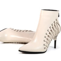 Plus Size 35-43 winter warm women botines mujer platform pointed toe lace up booties sexy high heels ankle boots 88-53
