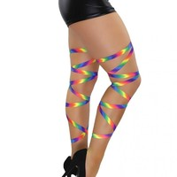 Pair of Rainbow Non-Slip Leg Wraps