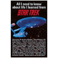 Star Trek All I Need to Know About Life Poster 11x17