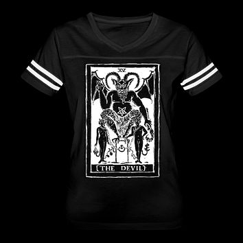 The Devil Tarot Women's Vintage Sport T-Shirt