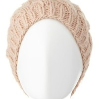 Chunky Basket-Weave Beanie by Charlotte Russe