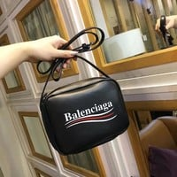 Balenciaga Women Leather Shoulder Bag Crossbody Satchel