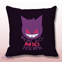 Pokemon Gengar Cat Smile Throw Pillow Cover – MPCTeeHouse