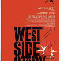 Print of old Movie Film Poster - WEST SIDE STORY: Natalie Wood.