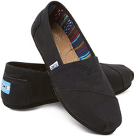 BLACK ON BLACK WOMEN'S CANVAS CLASSICS