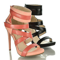 Donati By Shoe Republic, Open Toe Gladiator Small Platform Stiletto Heel Sandals