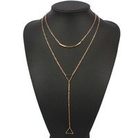 Cupshe Triangle Layered Pendant Necklace