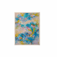 """Ebi Emporium """"When We Were Mermaids"""" Blue Yellow KESS Naturals Canvas (Frame not Included)"""