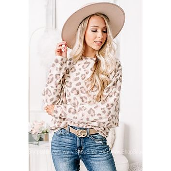 On The Soft Side Cheetah Knit Top