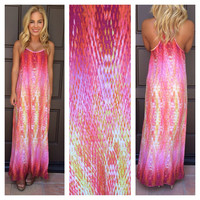 Watercolor Maxi Dress - Orchid