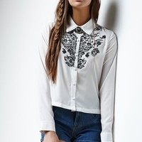 Erin Wasson Lone Star Embroidered Button-Up Shirt - Womens Shirts - White