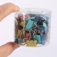 60Pcs 15mm Width Metal Binder Clips For Home Office Supplies School File Paper Notes Letter Paper Clips Clip Office Supplies