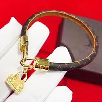 LV Louis Vuitton New fashion monogram lock bracelet women