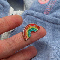 Rainbow Enamel Pin // Rainbow lapel pin, pride, LGBT, retro//EP007