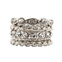 Twisted Stackable Ring Set: Charlotte Russe