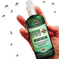 Best Natural Mosquito Repellent Spray - Deet Free Travel Insect Repellent Repels Mosquitoes, Ticks and Biting Flies. All Natural Bug Spray is Safe for Pregnant Women, Your Kids, Dogs and Pets