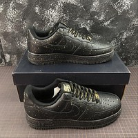 Nike Air Force 1 Low AF1 Only Once Black Fashion Shoes