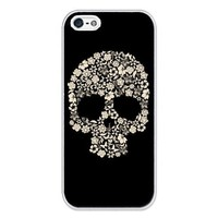 iZERCASE Skulls and Flowers iphone 5 case - Fits iphone 5, iPhone 5S T-Mobile, AT&T, Sprint, Verizon and International