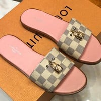 Louis Vuitton LV Lock It Mule Sandals