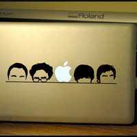 Big Bang Theory Silhouette : Apple Macbook Pro & Air LAPTOP Decal/Sticker